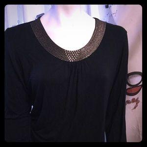 Beautiful Black Top Blouse Dress Shirt ♥️
